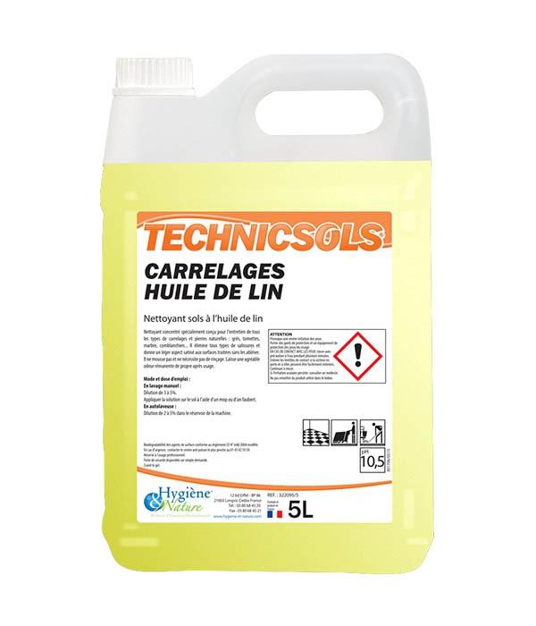 Nettoyant carrelages huile de lin technicsols hygiene nature 5l - Huile de lin tomettes ...