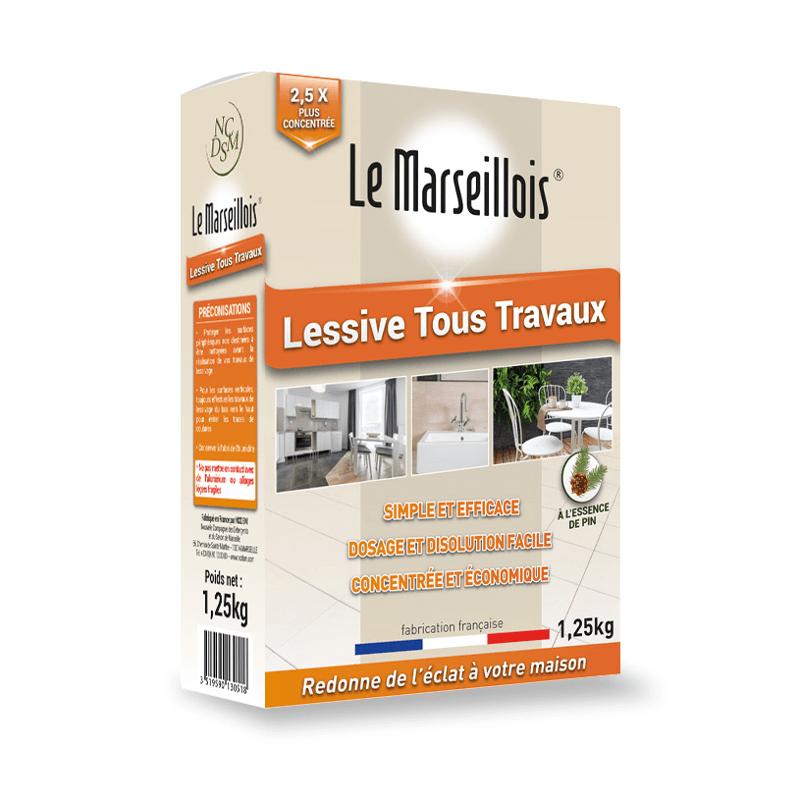 Lessive tous travaux - LE MARSEILLAIS - 1.25 kg