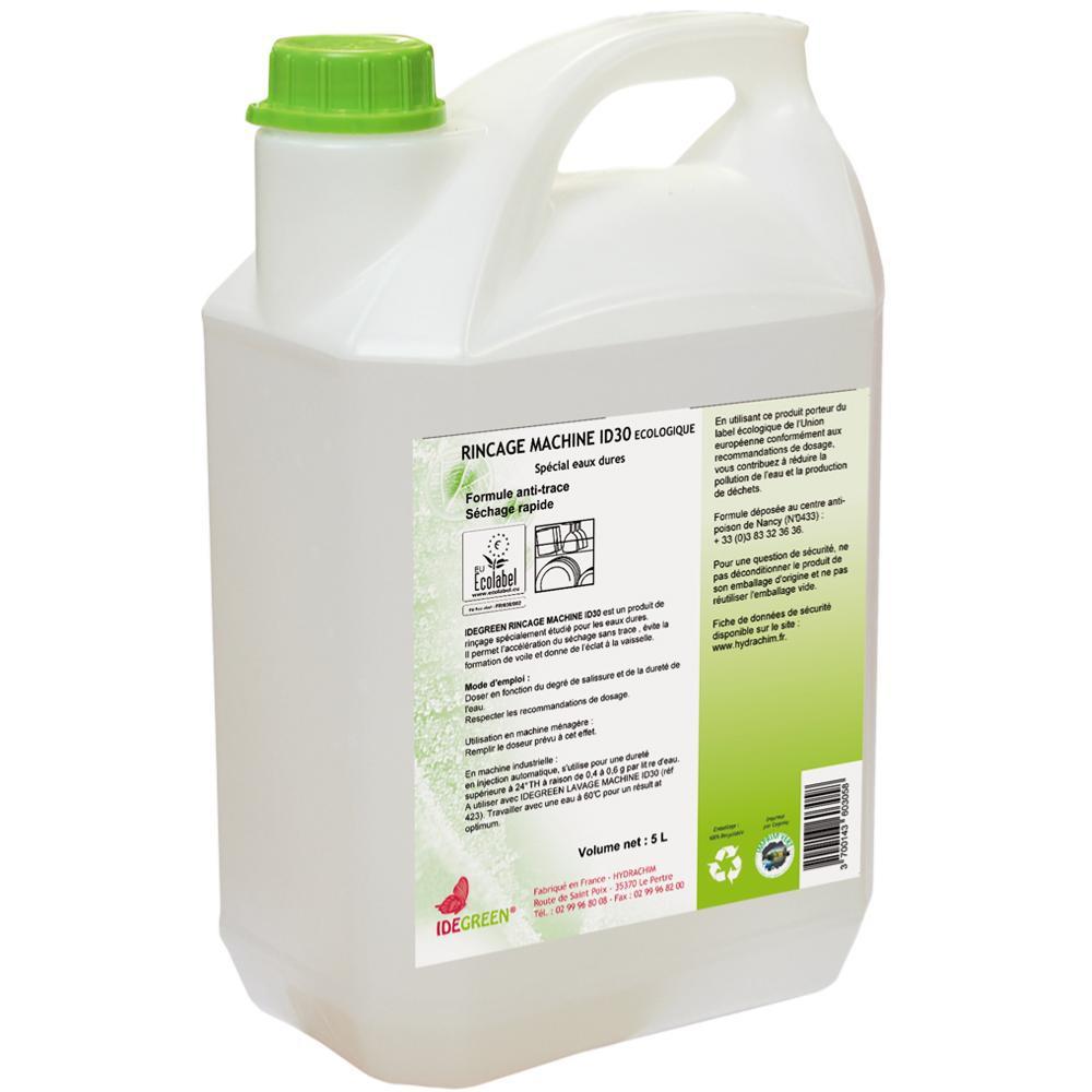 liquide de rinçage id 30 - idegreen - 5l - ecolabel - cuisines