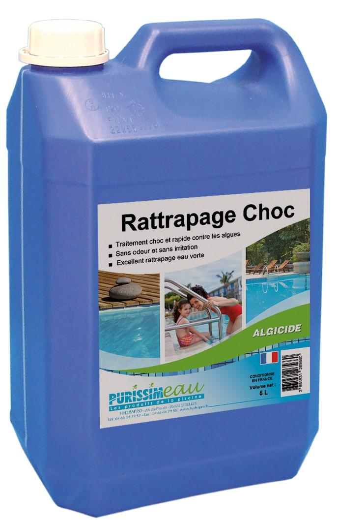 Produit algicide rattrapage choc hydrapro 5l for Produit piscine oxygene actif
