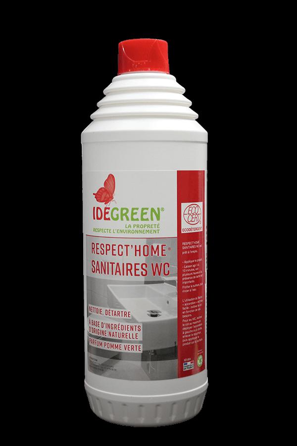 Gel nettoyant détartrant Sanitaires & Wc - IDEGREEN RESPECT HOME - HYDRACHIM - 750ml
