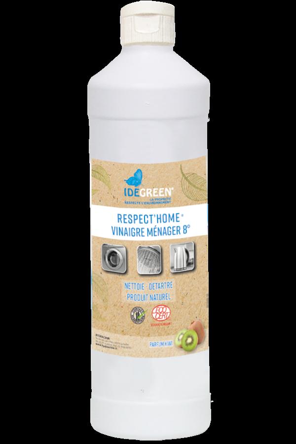 Vinaigre alcool ménager 8° arome kiwi-IDEGREEN-RESPECT HOME-1L-HYDRACHIM