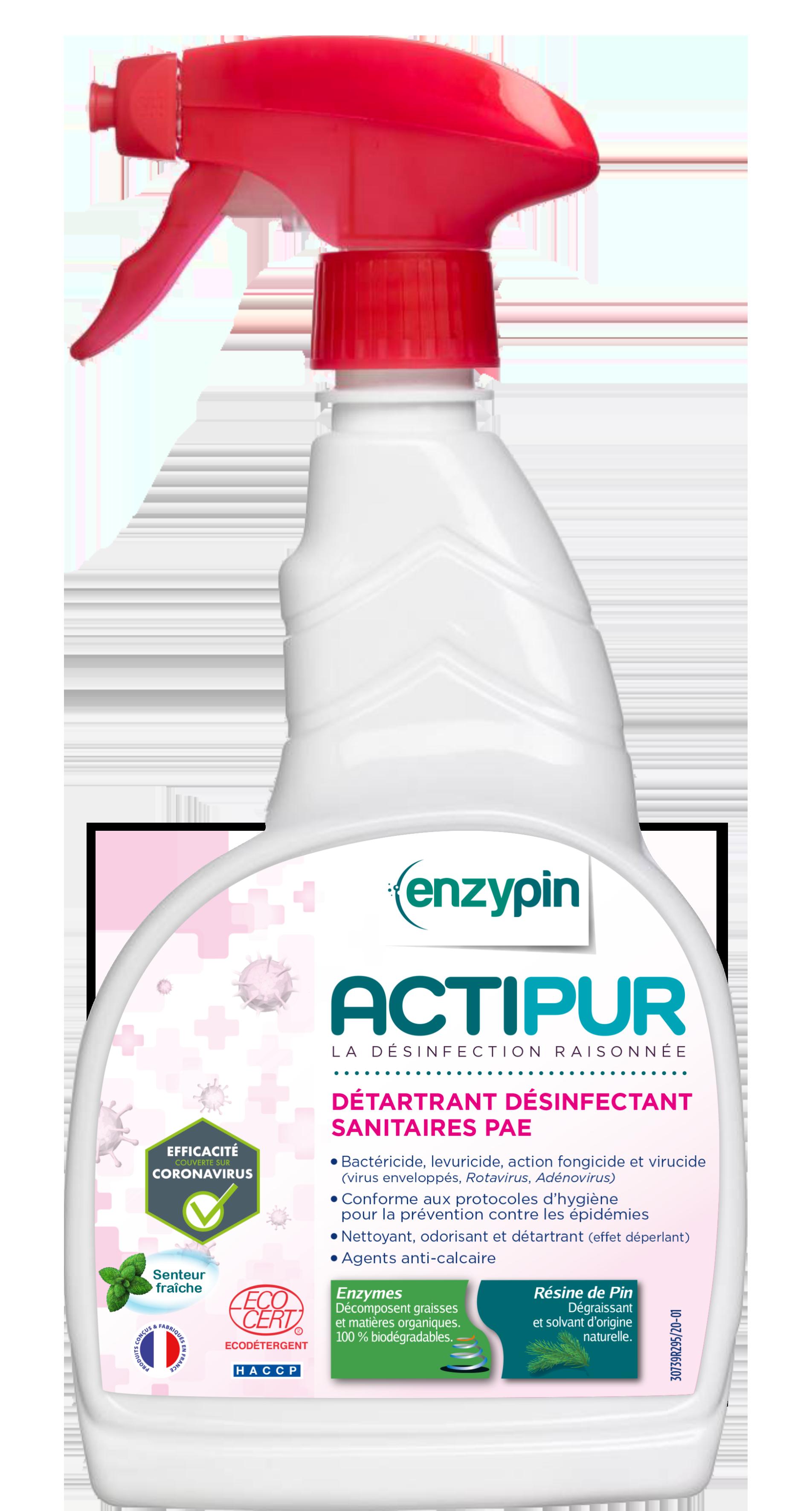 Détartrant désinfectant sanitaires prêt à l'emploi 750ml-ACTIPUR
