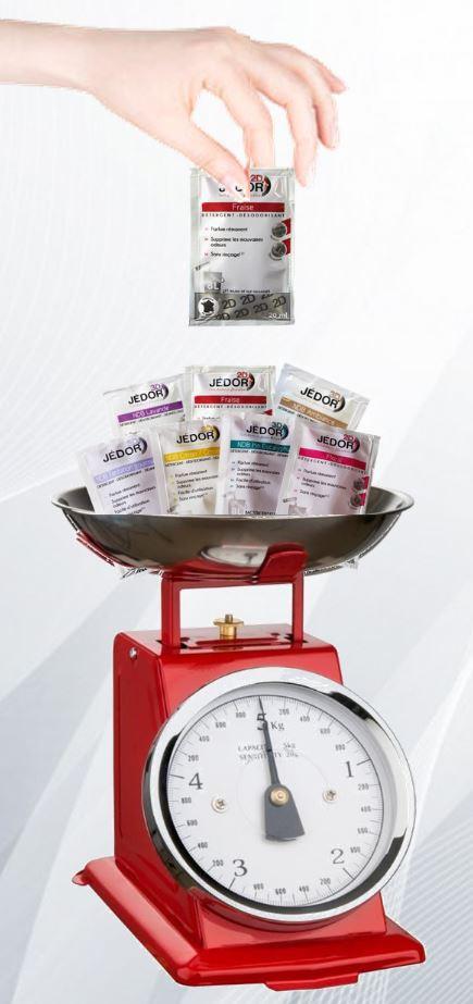 Dosettes Détergent Surodorant Désinfectant 20ml - Parfums mixtes - Au Poids