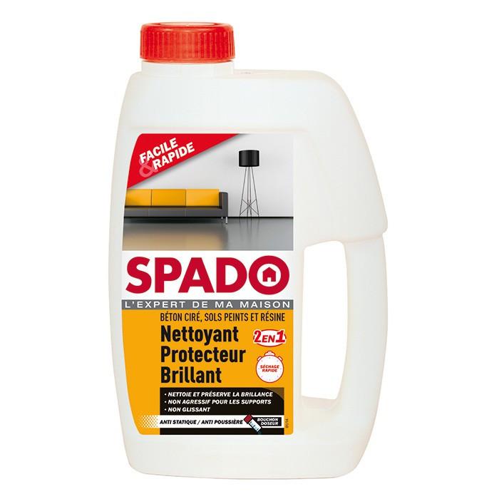 Nettoyant protecteur brillant béton ciré, sols peints et résine - 1L - SPADO