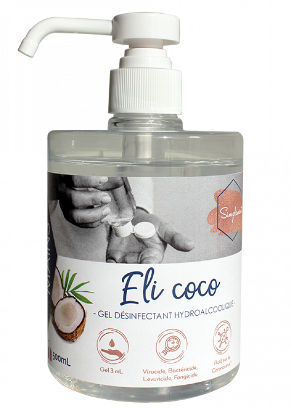 Gel hydroalcoolique Eli coco SIMPLEMENT-HYDRACHIM-