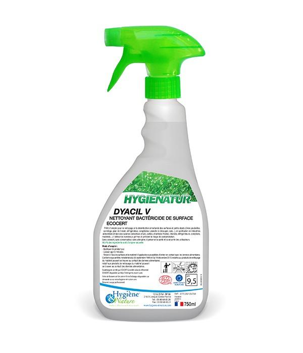 Nettoyant bactéricide de surface - DYACIL V - ECOCERT- 750ml