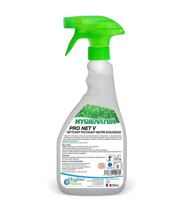 Nettoyant polyvalent neutre -PRO NET V - ECOCERT - 750ml