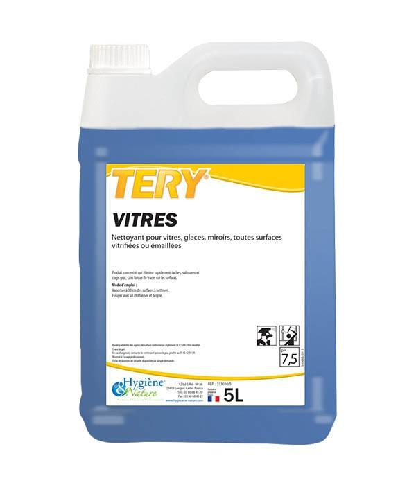 Tery nettoyant vitres hygiene nature 5l produits for Densite du verre a vitre