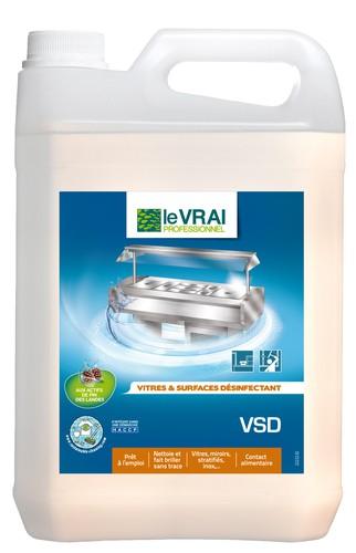 Nettoyant d sinfectant vitres surfaces 750 ml 5 l for Densite du verre a vitre