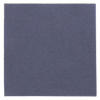 """Serviettes """"double-point""""  - 20 x 20cm - Bleu marine - GARCIA DE POU"""