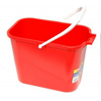 Seau 12 litres rouge rectangulaire Mery-THOMAS
