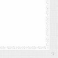 """Serviette """"I-one"""" -  33x33cm - Blanc - GARCIA DE POU"""
