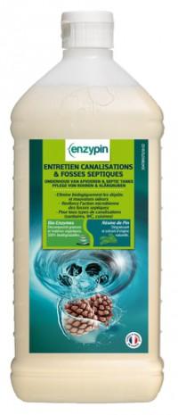Entretiens canalisations et fosses septiques ENZYPIN - LE VRAI Professionnel - 1L