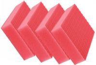 Sachet 4 x Eponge HACCP COLOR CLEAN rouge - DE WITTE