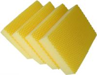 Sachet 4 x Eponge HACCP COLOR CLEAN jaune - DE WITTE