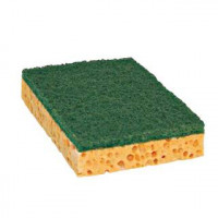 Eponge végétale blonde Tampon vert PREMIUM - Grand modèle - PAD