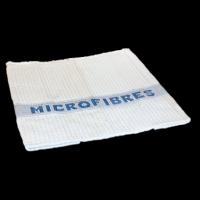 Serpillère microfibres gaufrée blanche - LAMATEX - 50x60cm