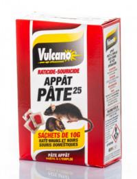 Raticide VULCANO Pâte appât (10g) boite 150g-ORCAD-