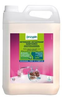 Détergent détartrant sanitaires ENZYPIN - LE VRAI Professionnel - 5L - Ecolabel