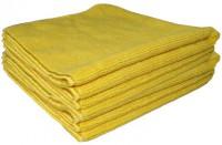 Sachet 5 x Tricot Soft 40 x 40 cm jaune - DE WITTE