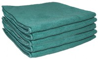 Sachet 5 x Tricot Soft 40 x 40 cm vert - DE WITTE