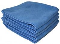 Sachet 5 x Tricot Soft 40 x 40 cm bleu - DE WITTE