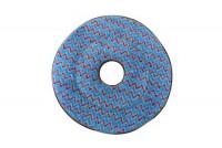 Disque microfibre bleu pour moquette - 406mm