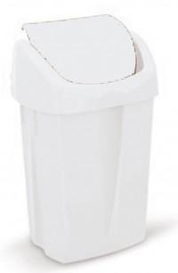 Poubelle à Clapet Blanc 25 litres - ICA