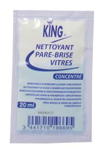 Dosette nettoyant pare-brise et vitres- concentré - KING- 20ML