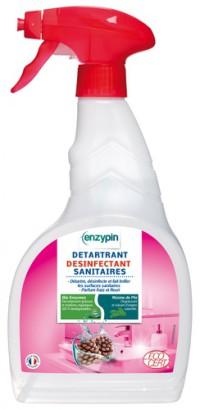 Détartrant Désinfectant Sanitaires ENZYPIN - LE VRAI Professionnel - 750mL - Ecocert