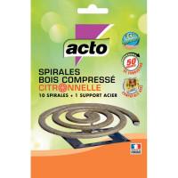 Spirales bois ACTO compresse citronnelle x10-DESAMAIS-
