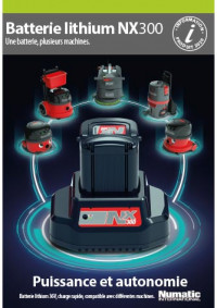 Batterie Numatic NX300 Lithium Li lon