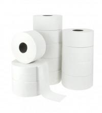 Papier toilette Mini Jumbo pure ouate blanc ECOLABEL - Pack de 12