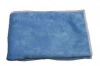 Carre microfibre tricot class bleu 40x40