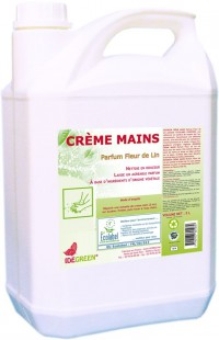 Crème mains écologique - IDEGREEN  - 5L - Ecolabel