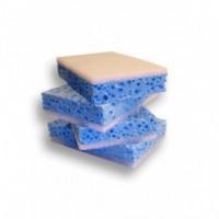 Eponge tampon sanitaire bleu