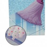 Frange mery microfibre lila hexag