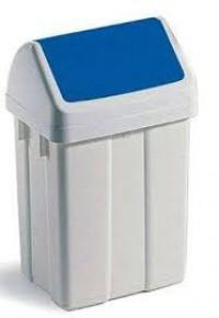 POUBELLE FLIP-FLAP Bleu - 50 Litres