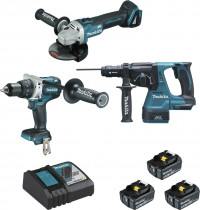 Perceuse + meuleuse + perforateur / lot de 3 - MAKITA
