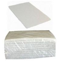 Tampon blanc 140X230mm tissu fibre (lot de 10)-PAD-