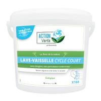 Tablettes lavage vaisselle CYCLE COURT - ACTION VERTE - 160 tablettes - Ecolabel