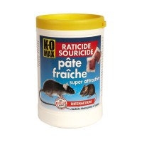 Pâte raticide/souricide - K-OMAX - 400g