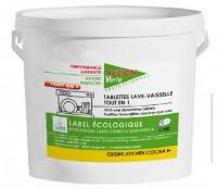 Tablettes lavage vaisselle CYCLE LONG - ACTION VERTE - 2.7Kg - Ecolabel