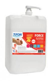 Gel Nettoyant Mains FORCE - Microbilles Minérales 4.5L - TIFON