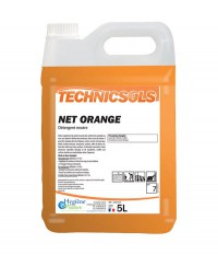 Nettoyant Net Orange - TECHNICSOLS - HYGIENE & NATURE - 5L