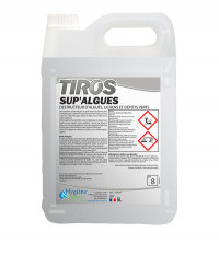 Destructeur d'algues, lichens et dépôts verts - SUP'ALGUES - TIROS - HYGIENE & NATURE - 5L
