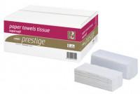 Essuie-mains plié en V PRESTIGE pure ouate blanc FSC - Carton de 3000 formats