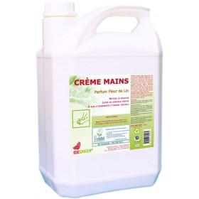 Crème mains écologique IDEGREEN - Parfum Fleur de lin - 5L