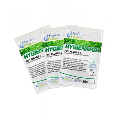 Liquide Vaisselle Mains Ecologique PRO PLONGE V - HYGIENATUR - 250 doses de 20ML - Ecolabel